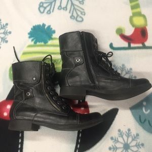 Womens G By Guess Faux Leather Boots